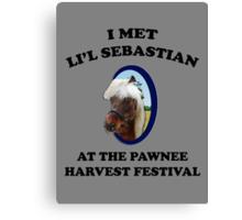 I Met Li'l Sebastian  Canvas Print