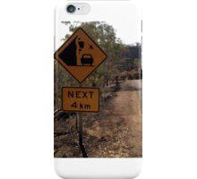 Beware of falling kangaroos iPhone Case/Skin