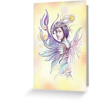 """""""THE CANCER""""  - Protective Angel for Zodiac Sign Greeting Card"""
