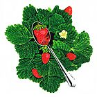 Fresh Strawberries - Fruit Art - By Sharon Cummings by Sharon Cummings