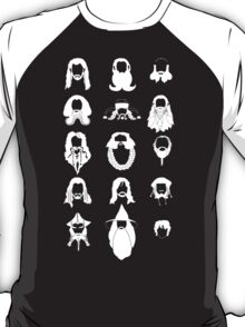 The Bearded Company White and Black T-Shirt