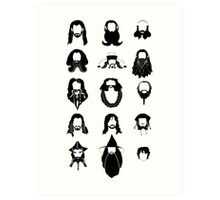 The Bearded Company Black and White Art Print