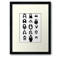 The Bearded Company Black and White Framed Print
