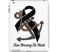 Nautical Themed Melanoma Ribbon iPad Case/Skin