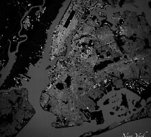New York City Map by Fabiola Rossetto