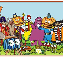 McDonald's characters by gamac74