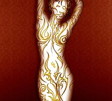 A colorful love for the female body. Yellow Gold by Doiron9