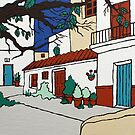 Spanish Village Scene by Adam Regester