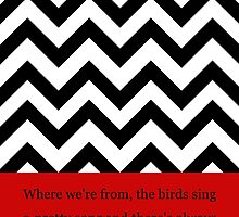 Twin Peaks Black Lodge pattern with quote by eantal