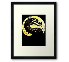 Mortal Kombat Dragon Framed Print