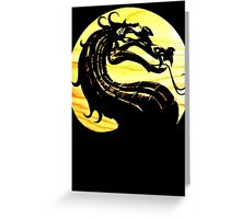 Mortal Kombat Dragon Greeting Card