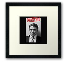 WANTED: RICK PERRY Framed Print