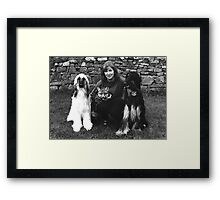 The fox and the Hounds! Framed Print