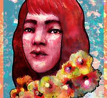 Flower Girl I (Red/Hibiscus) by Marissa Chapman