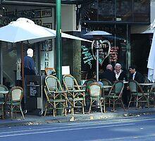 Late lunchers in Bourke Street by Maggie Hegarty