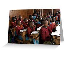 Kenyan Schoolroom  Greeting Card