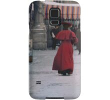 Woman in red Samsung Galaxy Case/Skin
