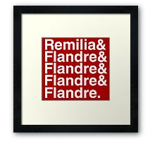 Touhou Four of a Kind (white text) Framed Print