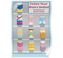 Follow Your Heart - Disney Princess Soda Cans Poster