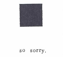 So Sorry Simple Sympathy Card by bluespecsstudio