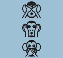 3 Wise Monkeys Emoji Kids Clothes