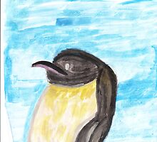 Watercolor Penguin by mellstrom123