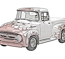 1956 Ford F100 Pickup by surgedesigns