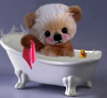 PRIVACY PLEASE..FLOFFY BEAR IS TAKING A BATH..PICTURE/CARD by ╰⊰✿ℒᵒᶹᵉ Bonita✿⊱╮ Lalonde✿⊱╮