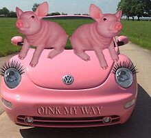 OINK MY WAY PIGS VW PICTURE/CARD by ✿✿ Bonita ✿✿ ђєℓℓσ
