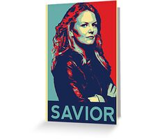 Emma Swan (Obama campaign poster) Greeting Card
