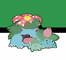 Kanto Grass Starter Trio by SnapFlash