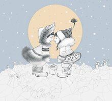 Eskimo kiss by Ruta Dumalakaite