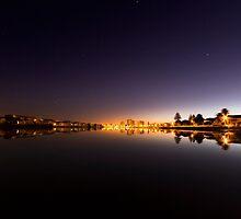 Mirror Calm Lagoon Beach Dawn by SeeOneSoul