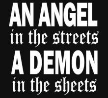 Angel/Demon Tee by Denise Ferragamo