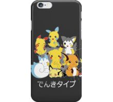 Electric rodent pokemons! iPhone Case/Skin