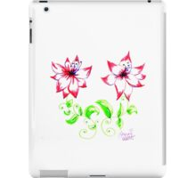 White and Pink Pointed Decorative Flowers iPad Case/Skin