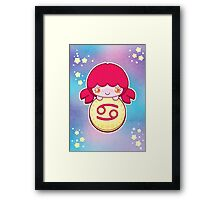 Kawaii Zodiac - Cancer Framed Print