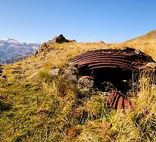 First World War Emplacement, Col di Lana, Dolomite Mountains, Italy by Andrew Jones