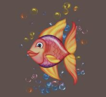 Happy Colorful Fish .. tee shirt Kids Clothes