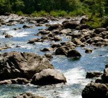 River Through Giant Stones Sticker