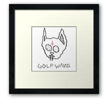 Golf Wang Cat  Framed Print