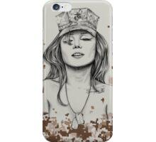 Sexy Marine Pin-Up iPhone Case/Skin