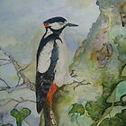 WOODY WOODPECKER - watercolor. by Marilyn Grimble
