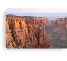Canyons and Monoliths Metal Print