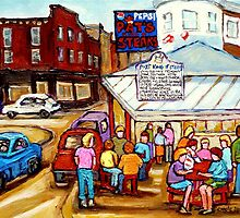 PAT'S  STEAKS PHILADELPHIA PAINTINGS by Carole  Spandau