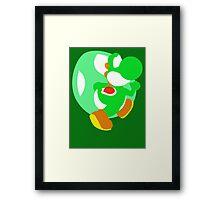 Super Smash Bros Yoshi Framed Print