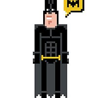 Pixel Batman by Sergei Vozika