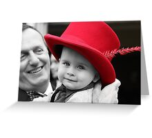 Hat's off to Him. Greeting Card