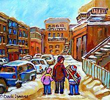 MONTREAL WINTER PAINTINGS by Carole  Spandau
