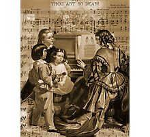 Thou Art So Dear Music - Mom And Children At Piano Photographic Print